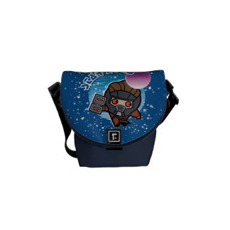 Kawaii Star-Lord In Space Messenger Bag