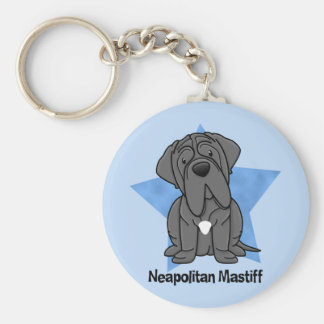 Kawaii Star Neapolitan Mastiff Key Ring