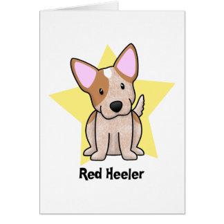 Kawaii Star Red Heeler Greeting Card