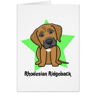 Kawaii Star Rhodesian Ridgeback Card