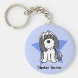 Kawaii Star Tibetan Terrier Keychains
