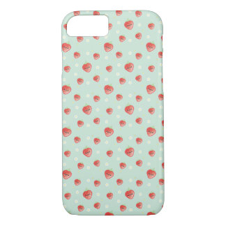 Kawaii Strawberry and Flowers iPhone 8/7 Case