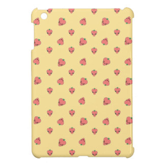 Kawaii Strawberry Background Case For The iPad Mini
