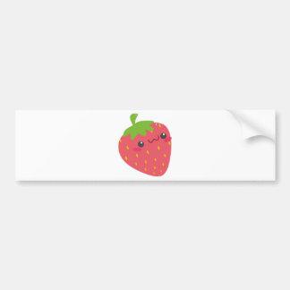 Kawaii Strawberry Bumper Sticker
