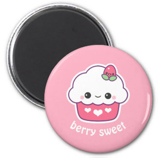 Kawaii Strawberry Cupcake Magnet