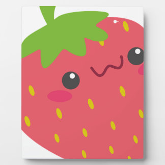 Kawaii Strawberry Plaque
