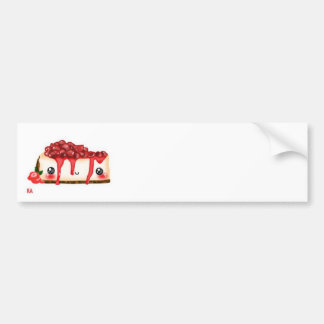 kawaii strawberry vanillecake car bumper sticker