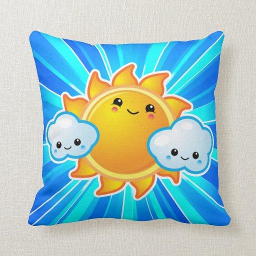 Kawaii Sunny Day American MoJo Pillows