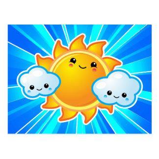 Kawaii Sunny Day Postcard