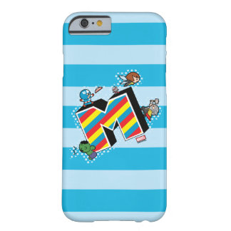 Kawaii Super Heroes on Striped M Barely There iPhone 6 Case
