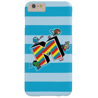 Kawaii Super Heroes on Striped M Barely There iPhone 6 Plus Case