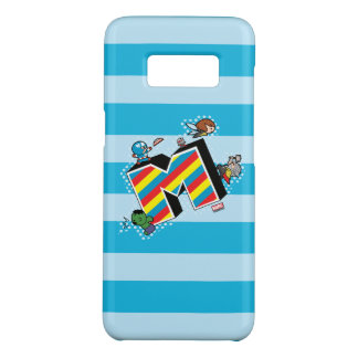 Kawaii Super Heroes on Striped M Case-Mate Samsung Galaxy S8 Case