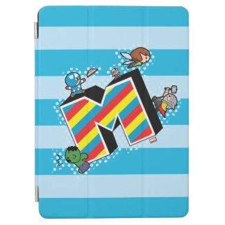 Kawaii Super Heroes on Striped M iPad Air Cover