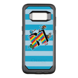 Kawaii Super Heroes on Striped M OtterBox Commuter Samsung Galaxy S8 Case
