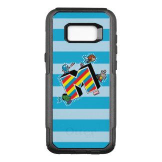 Kawaii Super Heroes on Striped M OtterBox Commuter Samsung Galaxy S8+ Case