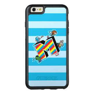 Kawaii Super Heroes on Striped M OtterBox iPhone 6/6s Plus Case