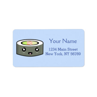 Kawaii Sushi Address Label