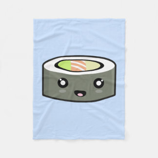 Kawaii Sushi Fleece Blanket