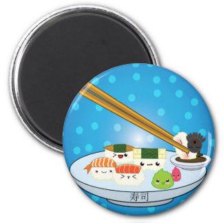 Kawaii Sushi Platter Magnet