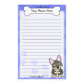 Kawaii Swedish Vallhund Stationery