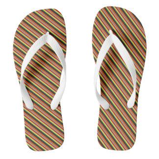 Kawaii Sweet Cute Multicolor Colorfull Striped Thongs