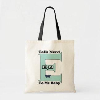 Kawaii Talk Nerdy Nerd-E To Me Baby Canvas Bag