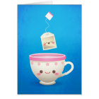 Kawaii Tea Time Card