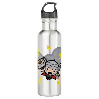 Kawaii Thor With Lightning 710 Ml Water Bottle