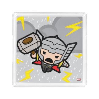 Kawaii Thor With Lightning Acrylic Tray