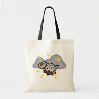 Kawaii Thor With Lightning Tote Bag
