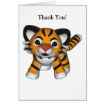 Kawaii Tiger Thank You Card Greeting Card