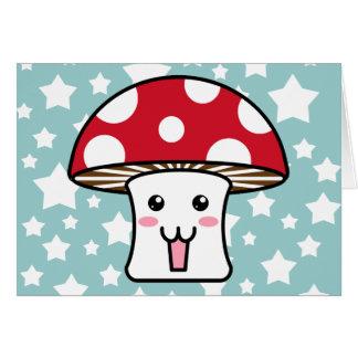 Kawaii Toadstool Card