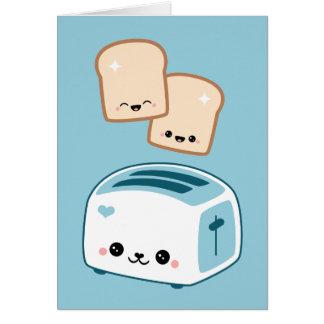 Kawaii Toast Card