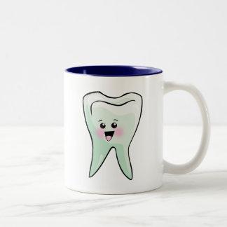 Kawaii Tooth Dental Art Two-Tone Coffee Mug