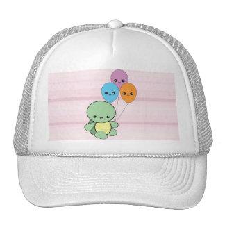 Kawaii Turtle with Balloons hat