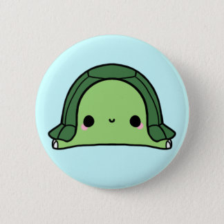 Kawaii Turtle (You change the Background!) 6 Cm Round Badge