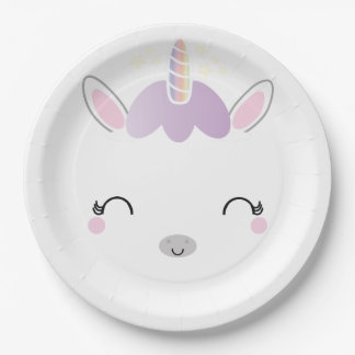 kawaii UNICORN BIRTHDAY party plate 1