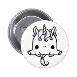 Kawaii Unicorn (You change the Background!) 6 Cm Round Badge