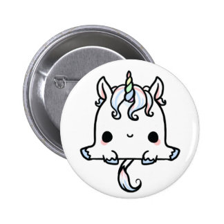 Kawaii Unicorn (You change the Background!) 6 Cm Round Badge