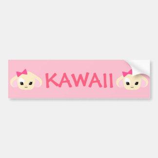 Kawaii Usagi-chan Pink Bumper Sticker