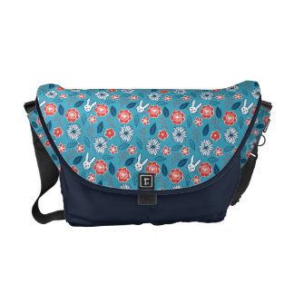 Kawaii Usagi Floral Pattern Messenger Bags