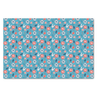 Kawaii Usagi Floral Pattern Tissue Paper