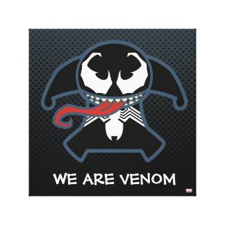 Kawaii Venom Tongue Lash Canvas Print