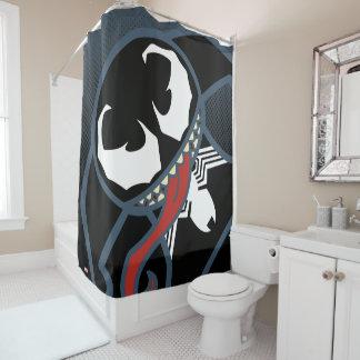 Kawaii Venom Tongue Lash Shower Curtain