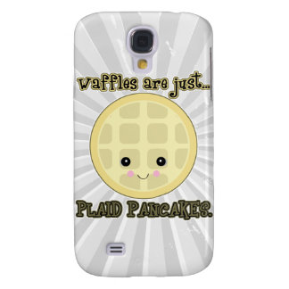 kawaii waffles are just plaid pancakes galaxy s4 case
