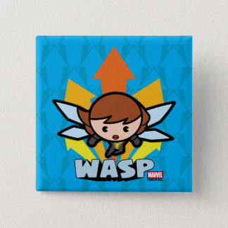 Kawaii Wasp Flying 15 Cm Square Badge
