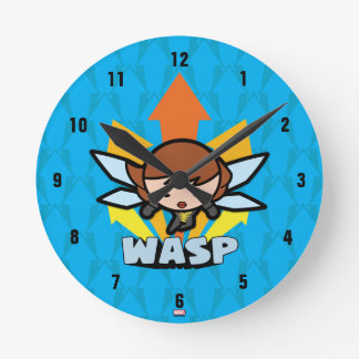 Kawaii Wasp Flying Round Clock