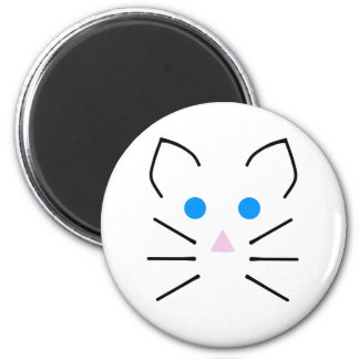 Kawaii White Mouse Blue Eyes Cartoon Mice Animal 6 Cm Round Magnet