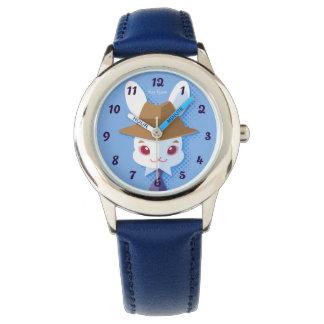 Kawaii White Rabbit Dapper Easter Bunny Watch