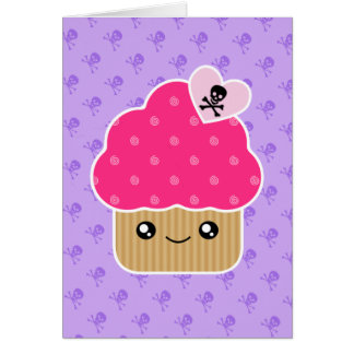 Kawaii Wicked Cute Cupcake Birthday Card